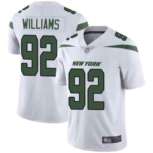 Nike Jets 92 Leonard Williams White New 2019 Vapor Untouchable Limited Jersey