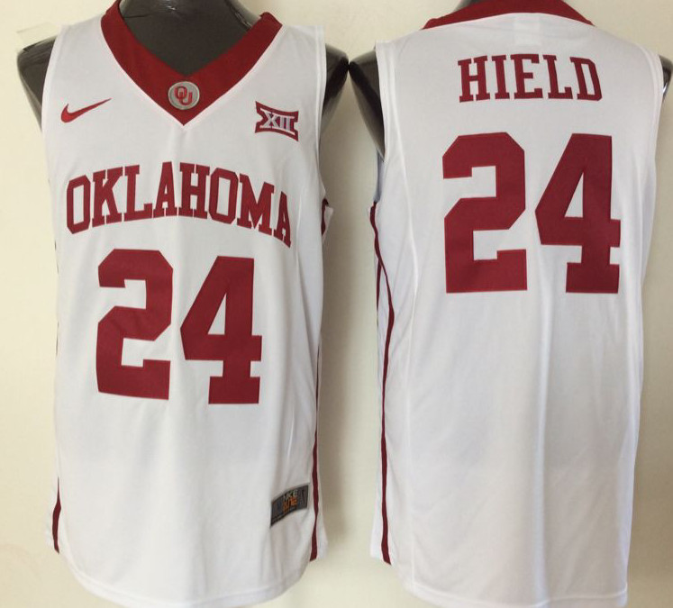 Oklahoma Sooners 24 Buddy Hield White College Basketball Jersey