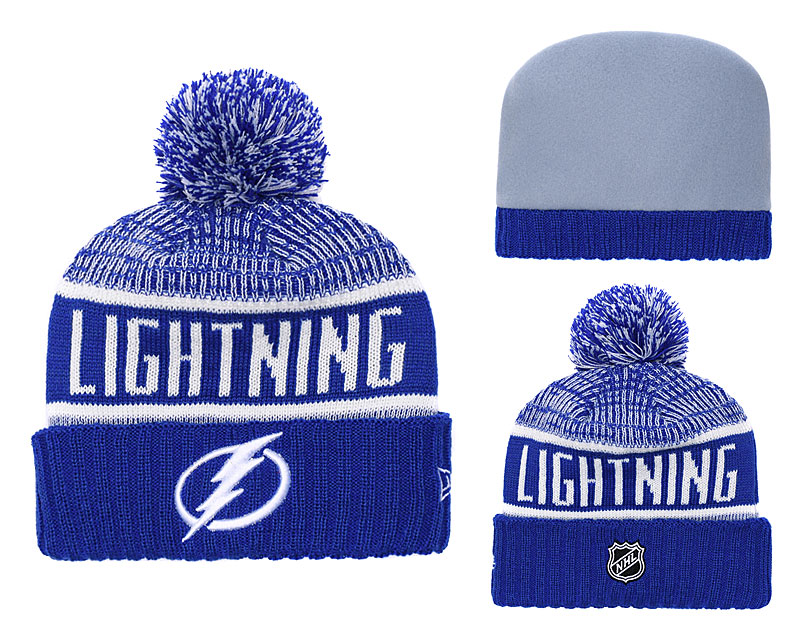 Lightning Fresh Logo Blue Pom Knit Hat YD