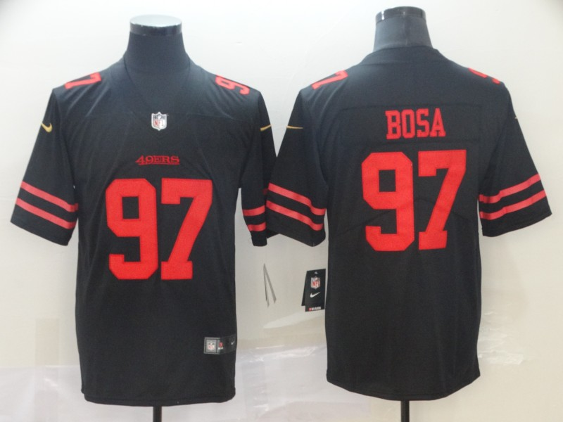 Nike 49ers 97 Nick Bosa Black 2019 NFL Draft First Round Pick Vapor Untouchable Limited Jersey