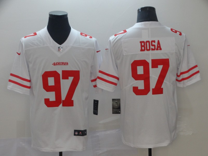 Nike 49ers 97 Nick Bosa White 2019 NFL Draft First Round Pick Vapor Untouchable Limited Jersey
