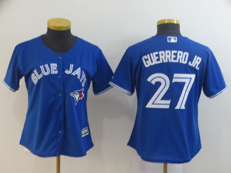 Blue Jays 27 Vladimir Guerrero Jr. Royal Women Cool Base Jersey