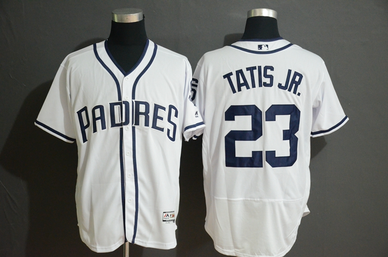 Padres 23 Fernando Tatis Jr. White Flexbase Jersey