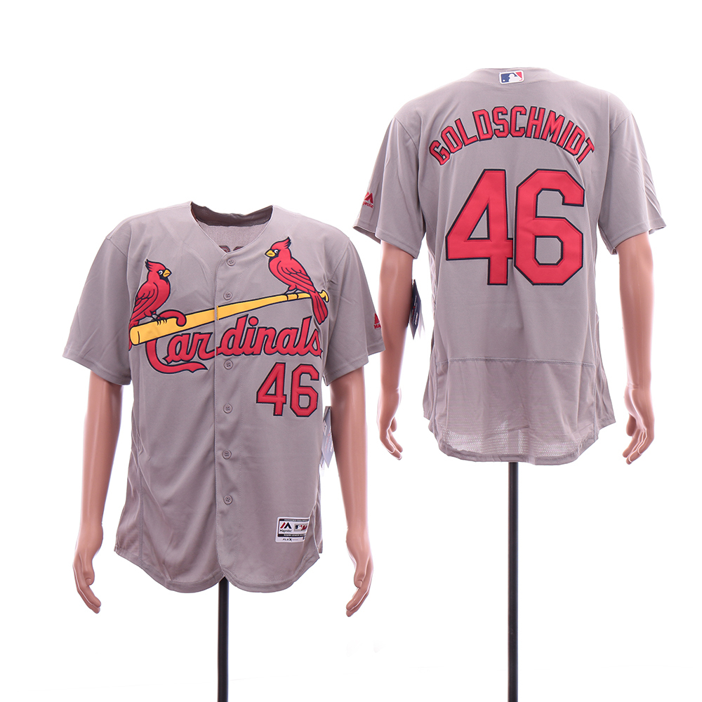 Cardinals 46 Paul Goldschmidt Gray Flexbase Jersey