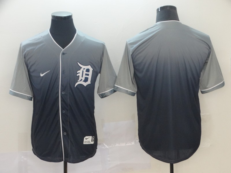 Tigers Blank Gray Drift Fashion Jersey