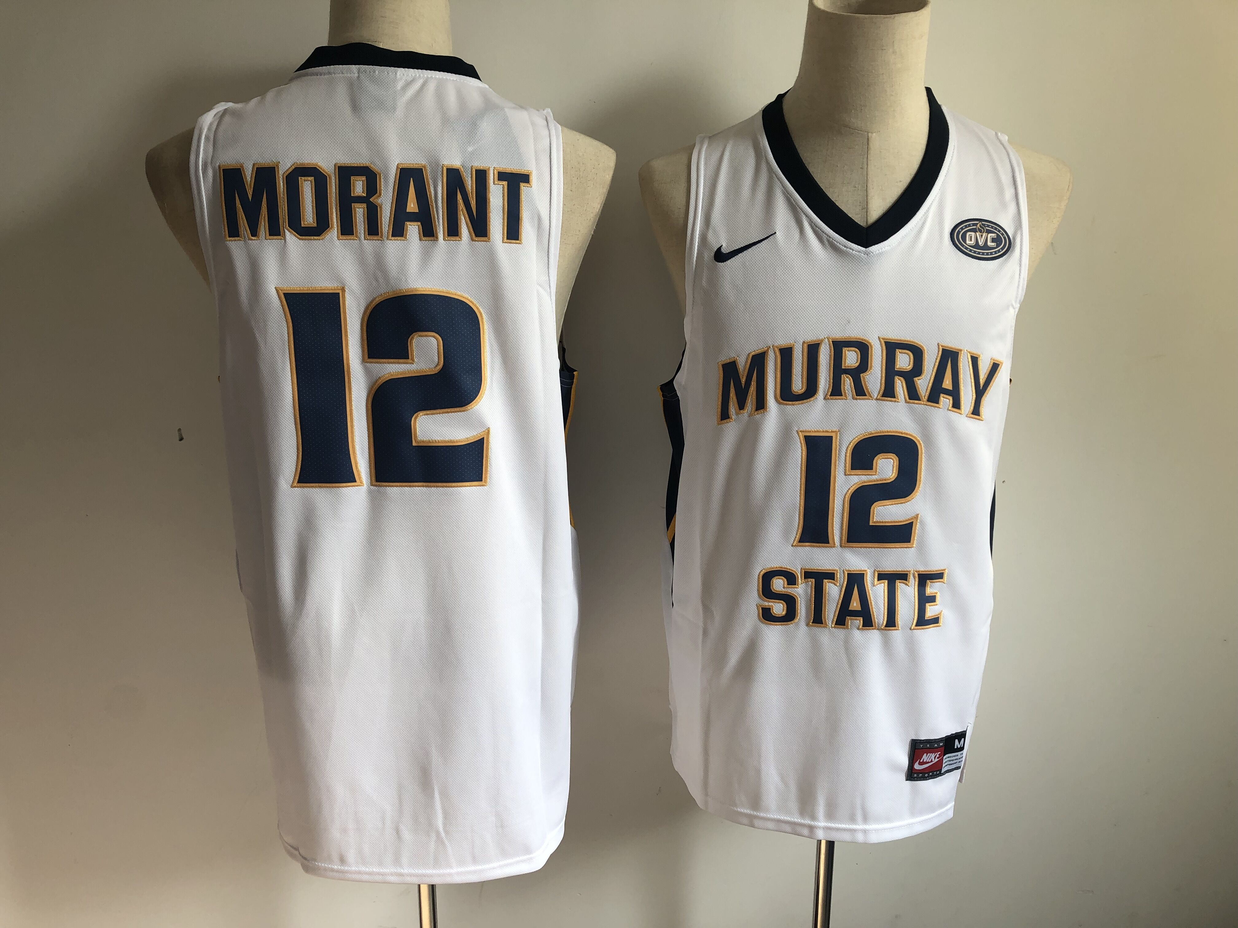 Murray State 12 Ja Morant White Nike College Basketball Jersey