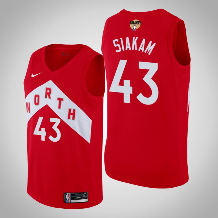 Raptors 43 Pascal Siakam Red 2019 NBA Finals Earned Edition Nike Swingman Jersey