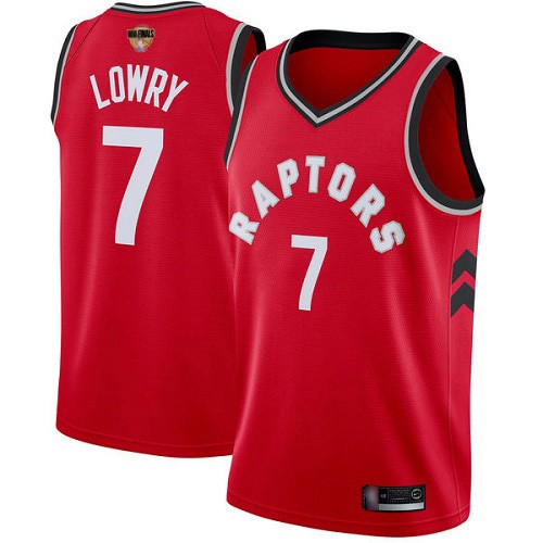 Raptors 7 Kyle Lowry Red 2019 NBA Finals Swingman Jersey
