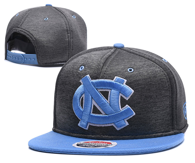 North Carolina Tar Heels Team Logo Gray Blue Adjustable Hat GS