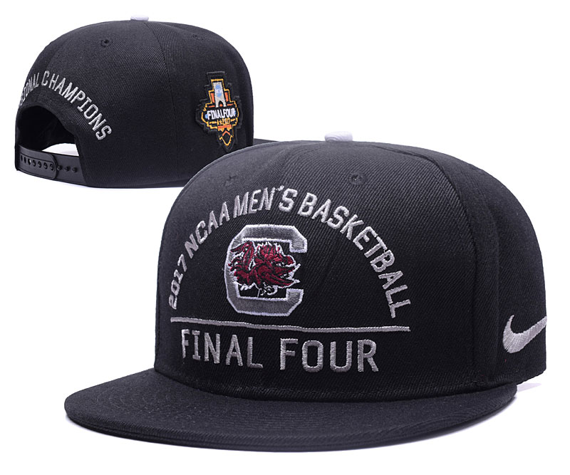 South Carolina Gamecocks Team Logo Black Adjustable 2017 Final Four Hat GS