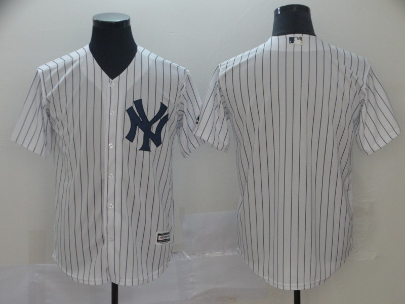 Yankees Blank White Cool Base Jersey