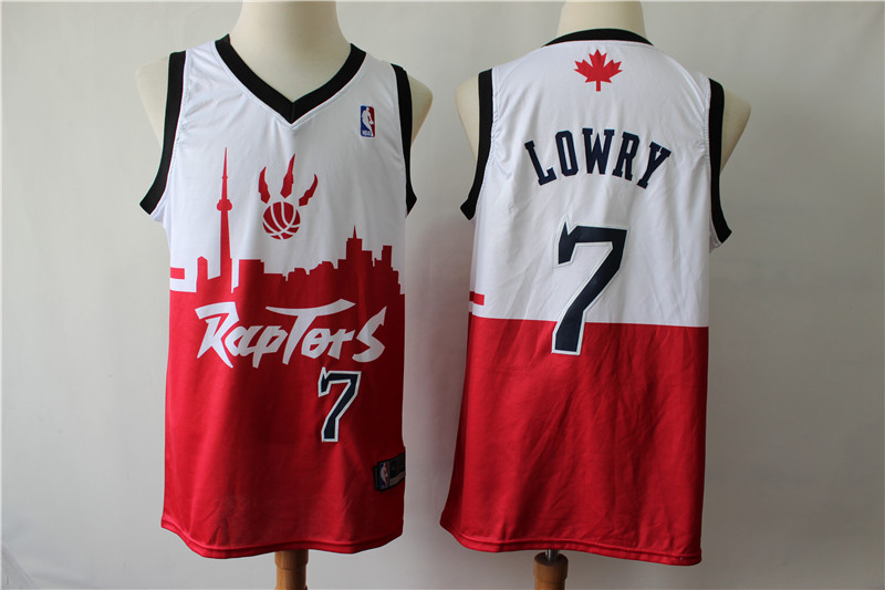 Raptors 7 Kyle Lowry White Red 2019 City DNA Swingman Jersey