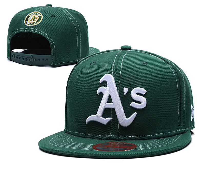 Athletics Team Logo Green Adjustable Hat LT