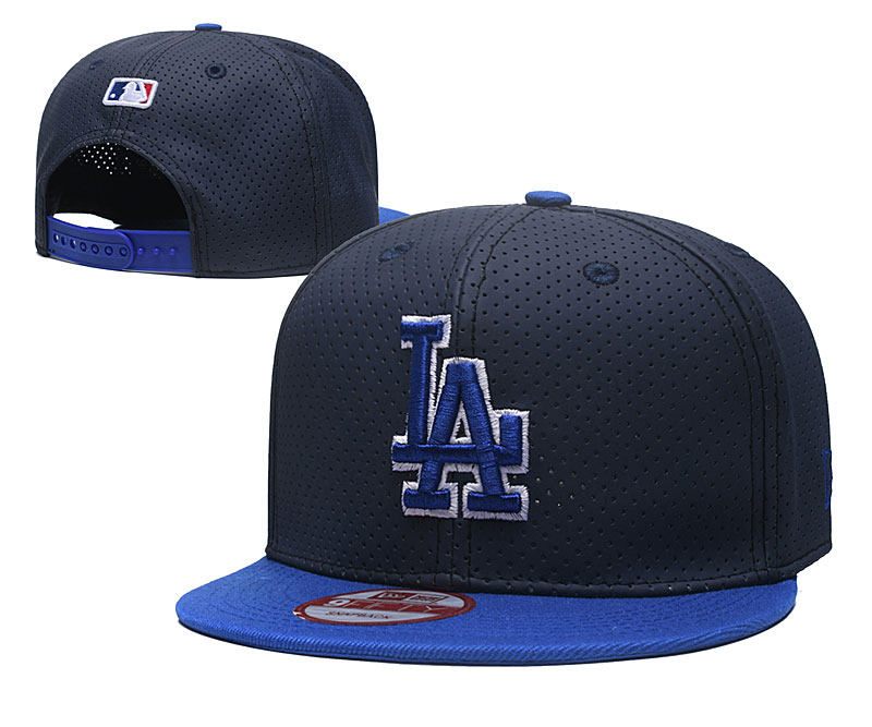 Dodgers Team Logo Navy Royal Adjustable Hat TX
