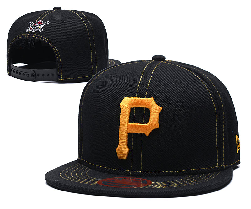 Pirates Team Logo Navy Adjustable Hat LT