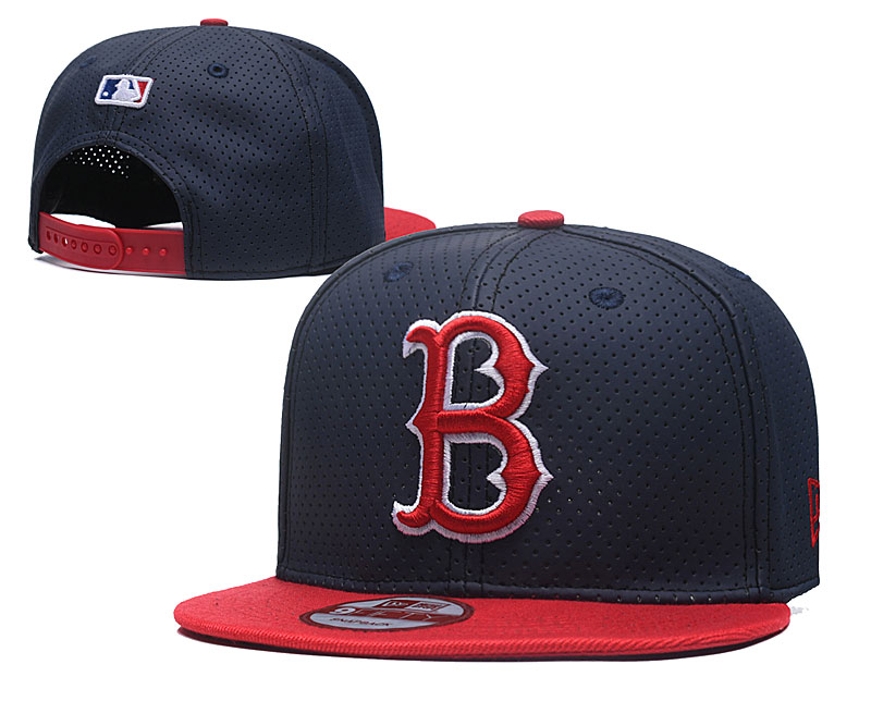 Red Sox Team Logo Navy Adjustable Hat TX