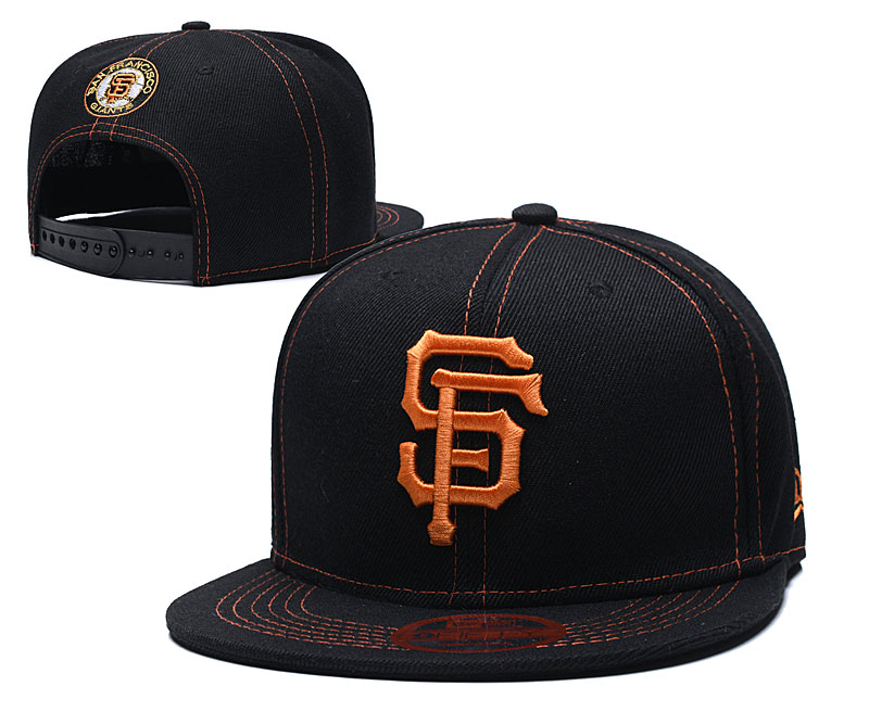 San Francisco Giants Team Logo Black Adjustable Hat LT