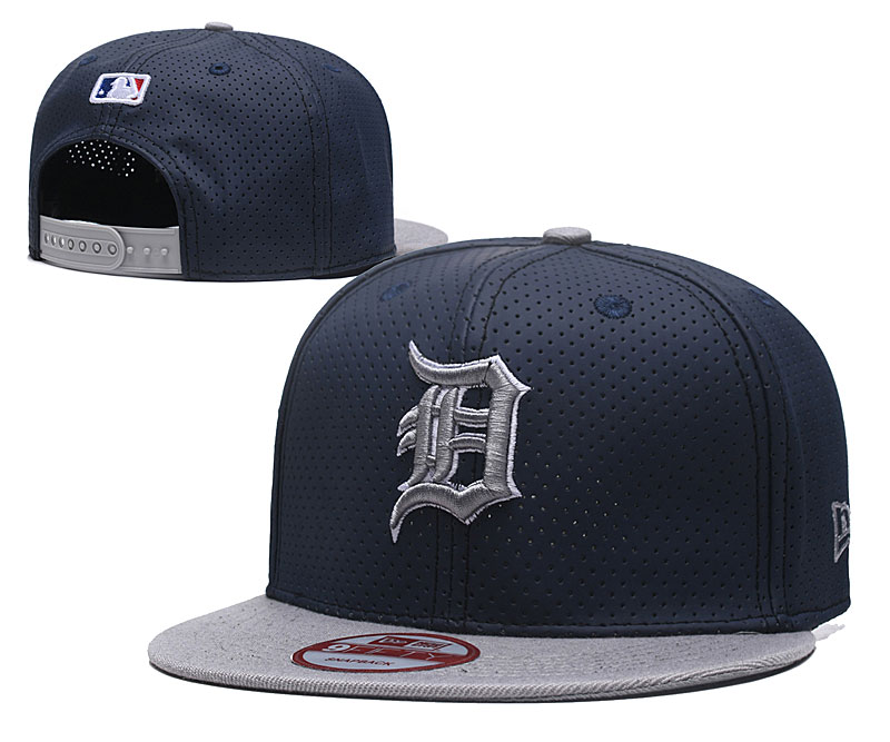 Tigers Team Logo Navy Gray Adjustable Hat TX