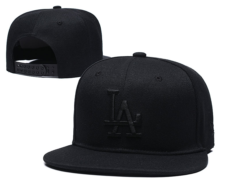 Dodgers Fresh Logo Black Adjustable Hat TX