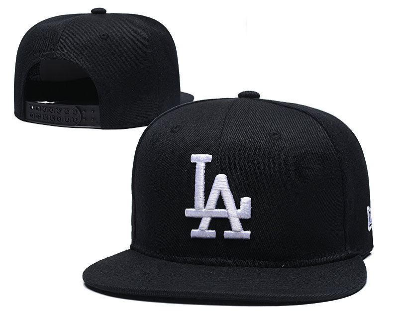 Dodgers Team Logo Black Adjustable Hat TX