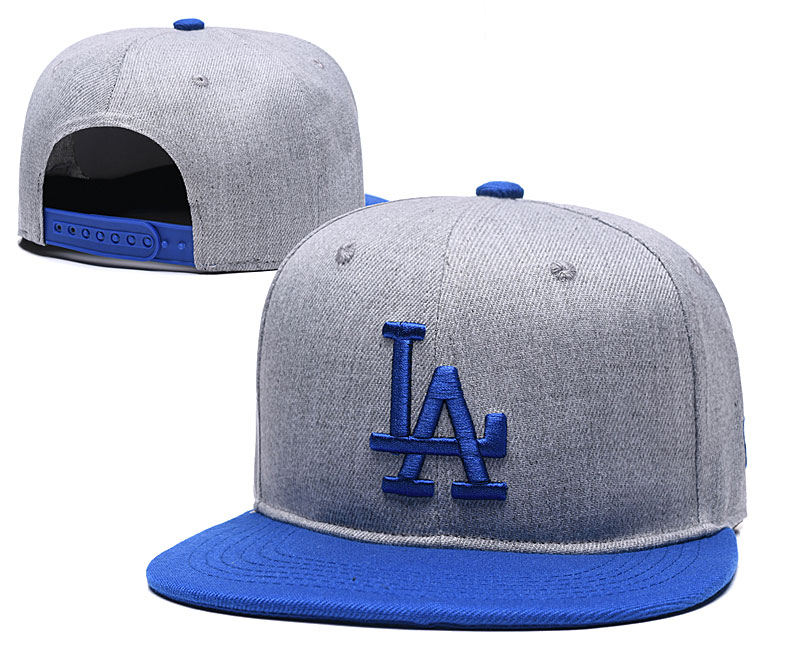Dodgers Team Logo Gray Royal Adjustable Hat TX
