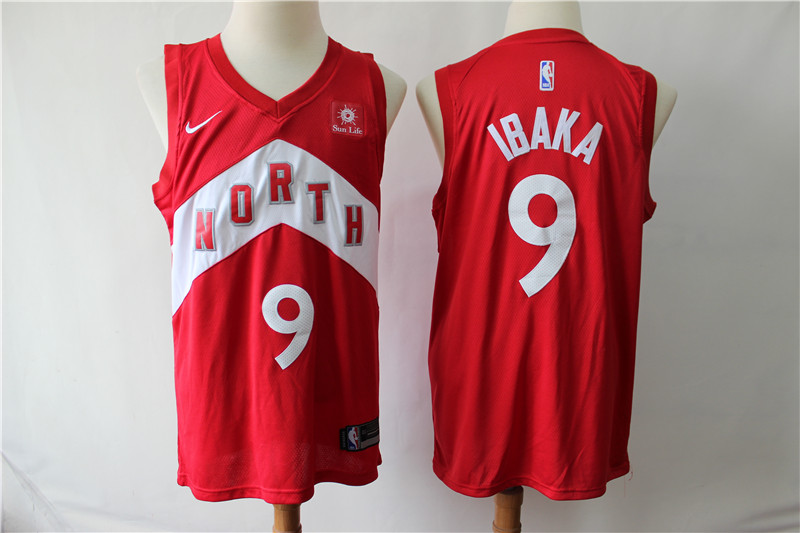 Raptors 9 Serge Ibaka Red Earned Edition Nike Swingman Jersey