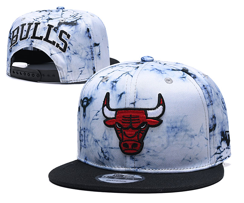Bulls Team Logo Smoke Black Adjustable Hat TX