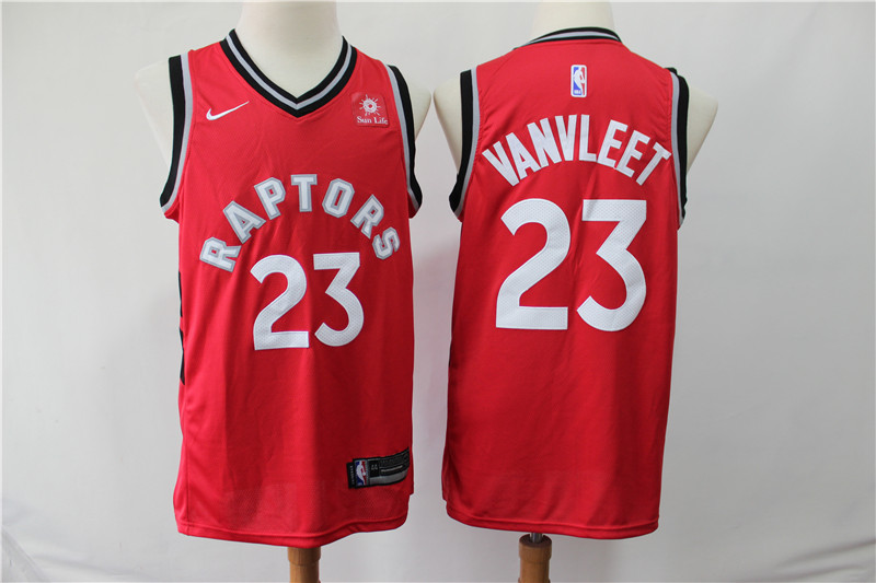 Raptors 23 Fred Vanvleet Red Nike Swingman Jersey