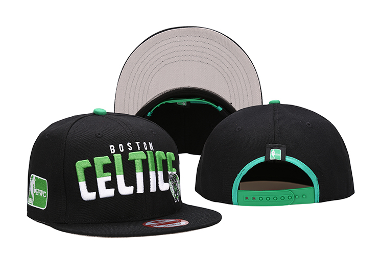 Celtics Team Logo Black Adjustable Hat LH