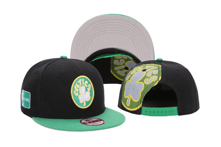 Celtics Team Logo Black Green Adjustable Hat LH
