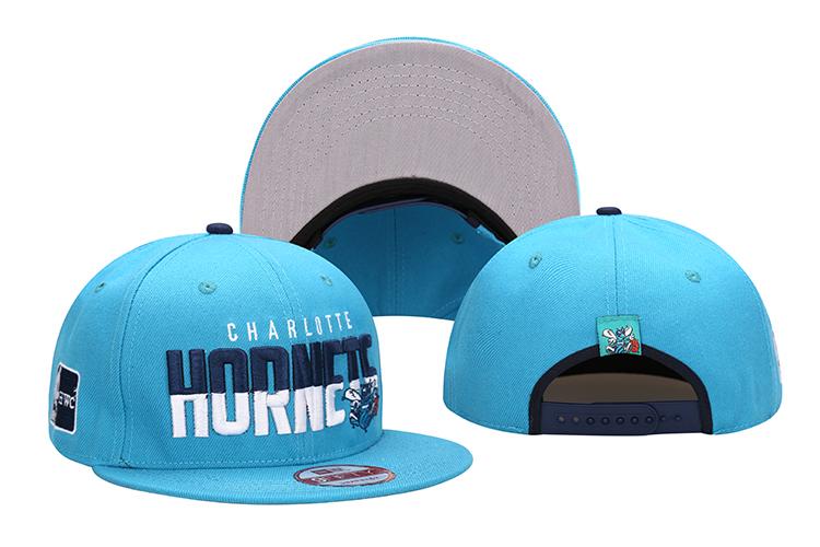 Hornets Team Logo Blue Adjustable Hat LH