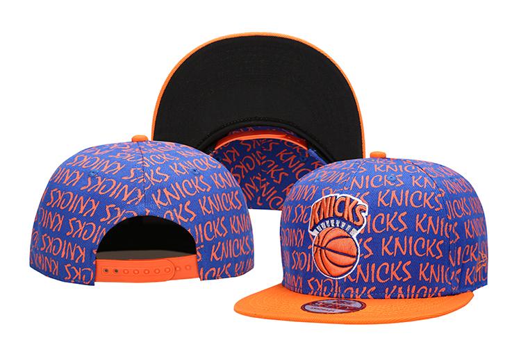 Knicks Team Logo Orange Adjustable Hat LH