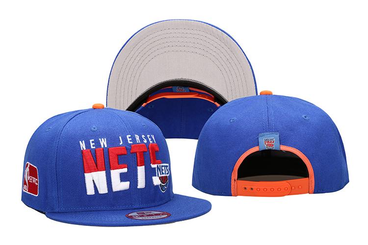Nets Team Logo Blue Adjustable Hat LH