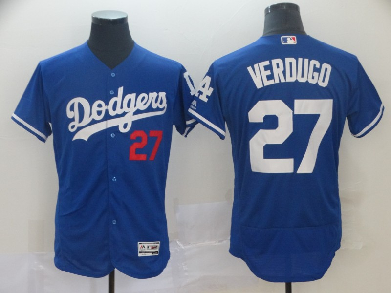 Dodgers 27 Alex Verdugo Blue Flexbase Jersey