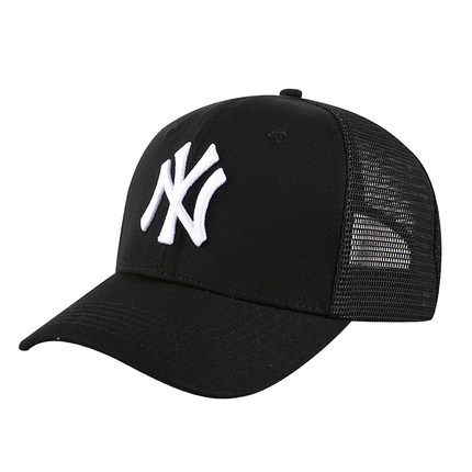 Yankees Fresh Logo Black Peaked Adjustable Hat TX.jpeg