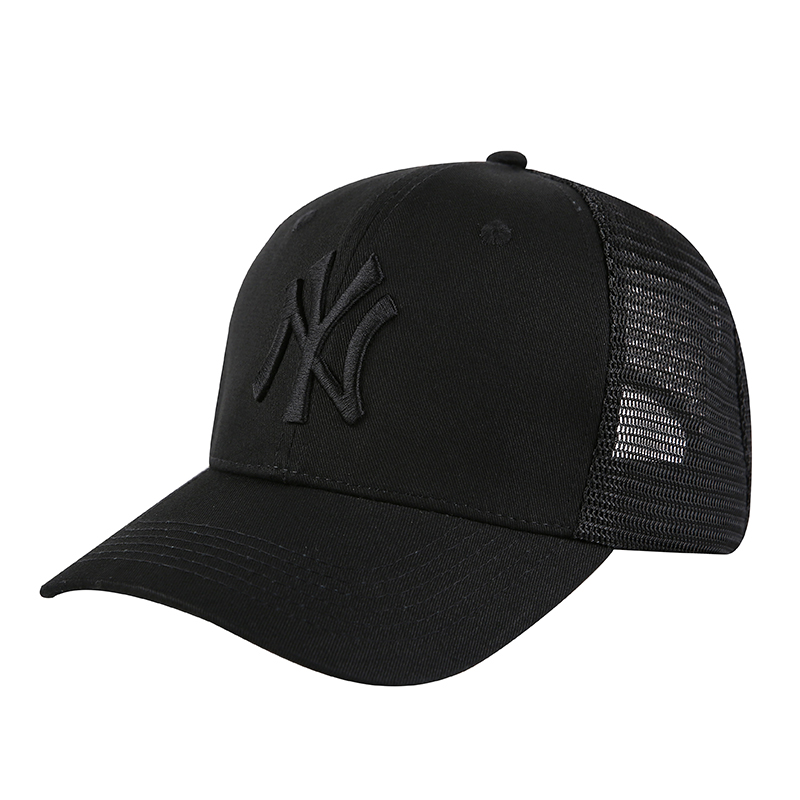 Yankees Team Logo Black Peaked Adjustable Hat TX