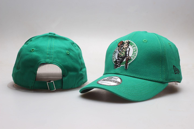 Celtics Team Logo Green Peaked Adjustable Hat YP