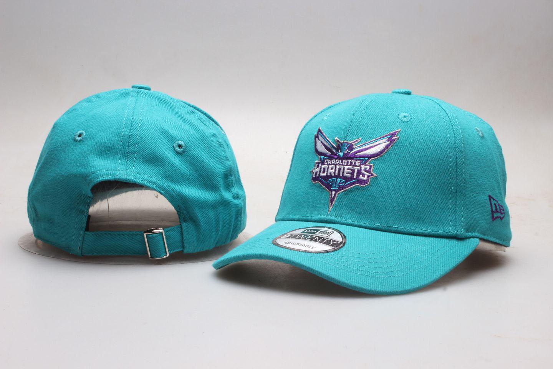 Hornets Team Logo Green Peaked Adjustable Hat YP