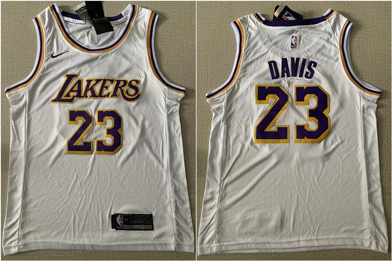 Lakers 23 Anthony Davis White Nike Swingman Jersey