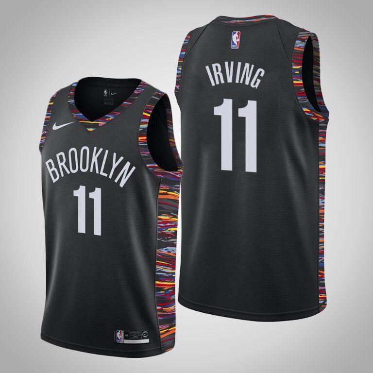 Nets 11 Kyrie Irving Black City Edition Nike Swingman Jersey