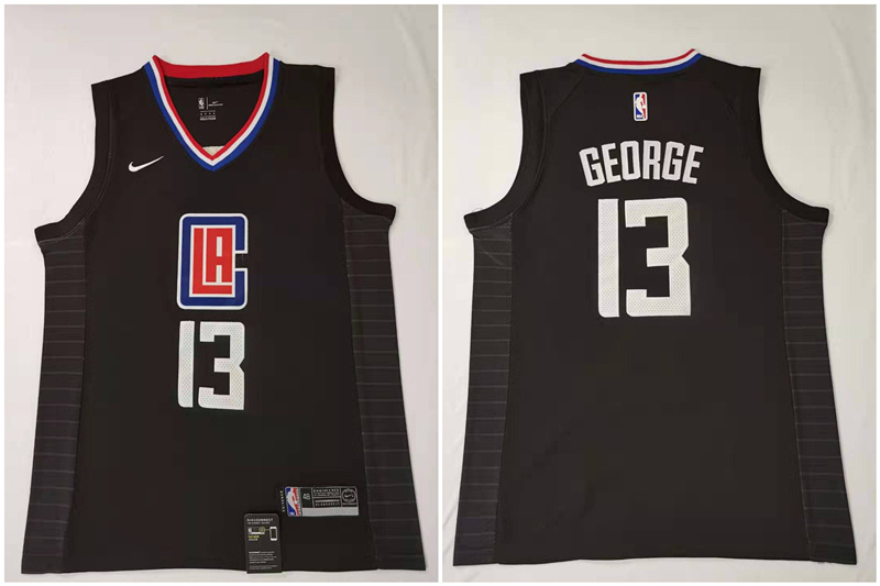 Clippers 13 Paul George Black Nike Swingman Jersey