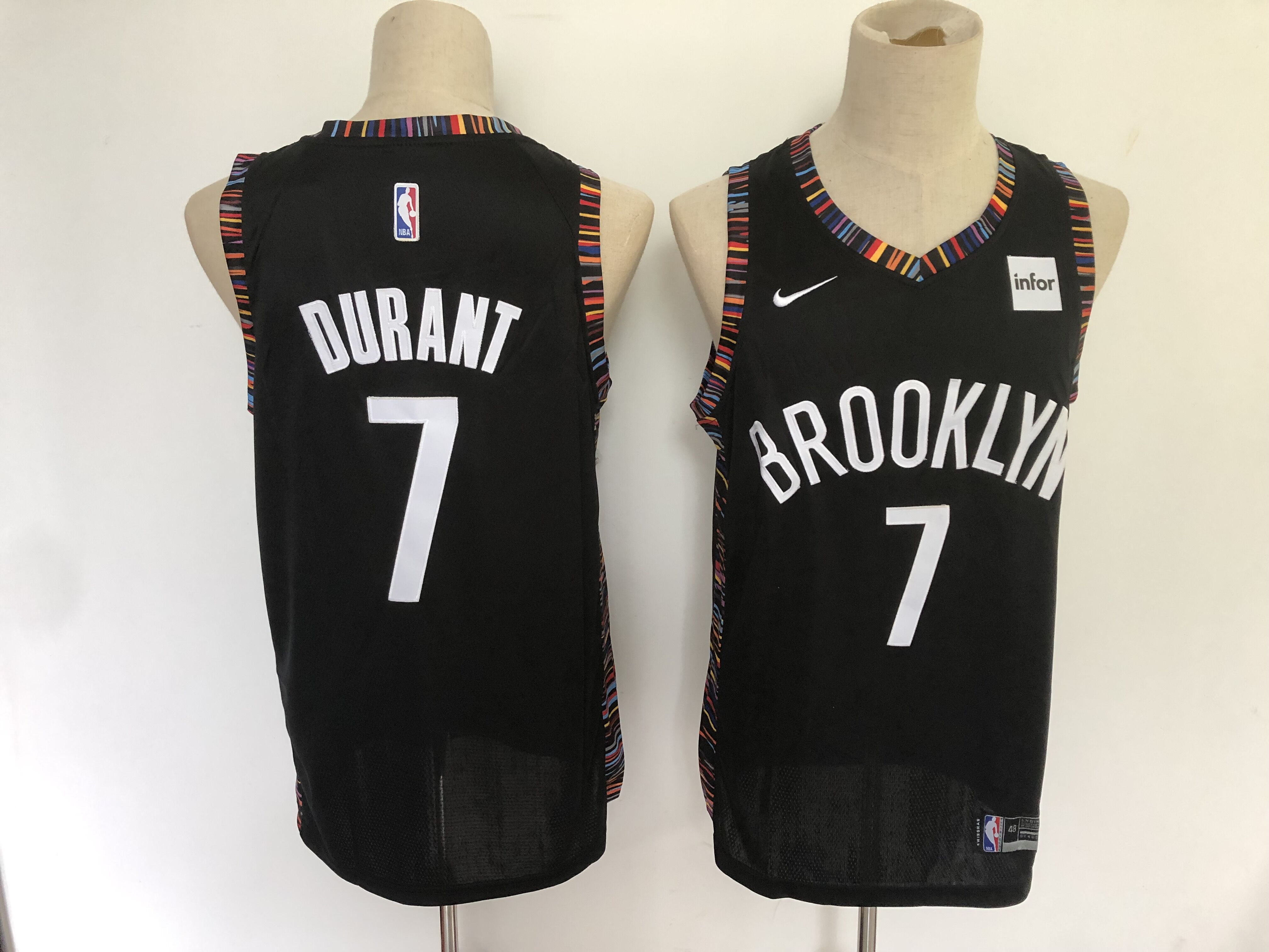 Nets 7 Kevin Durant Black City Edition Nike Swingman Jersey
