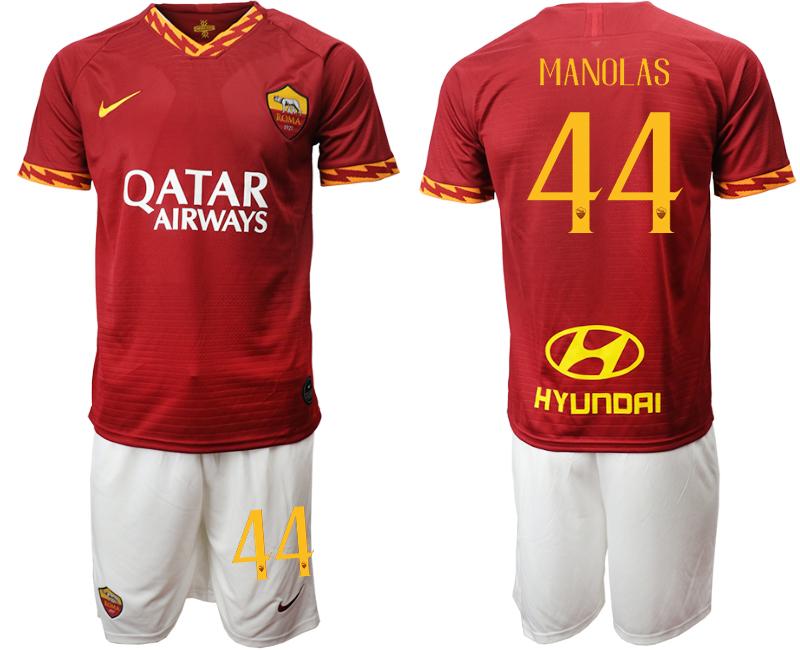 2019-20 Roma 44 MANOLAS Home Soccer Jersey