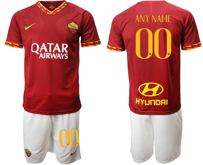 2019-20 Roma Customized Home Soccer Jersey