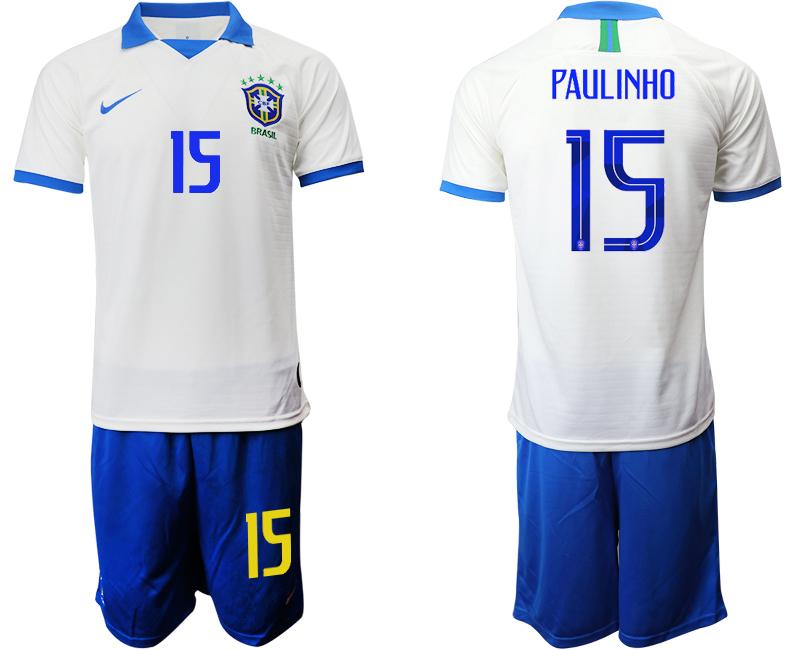 2019-20 Brazil 15 PAULINHO White Special Edition Soccer Jersey