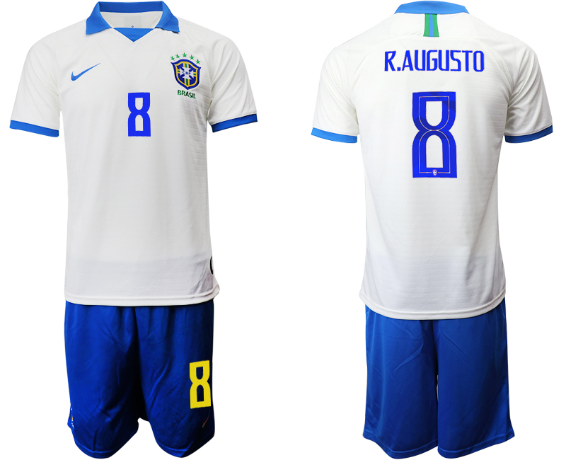 2019-20 Brazil 8 R.AUGUSTO White Special Edition Soccer Jersey