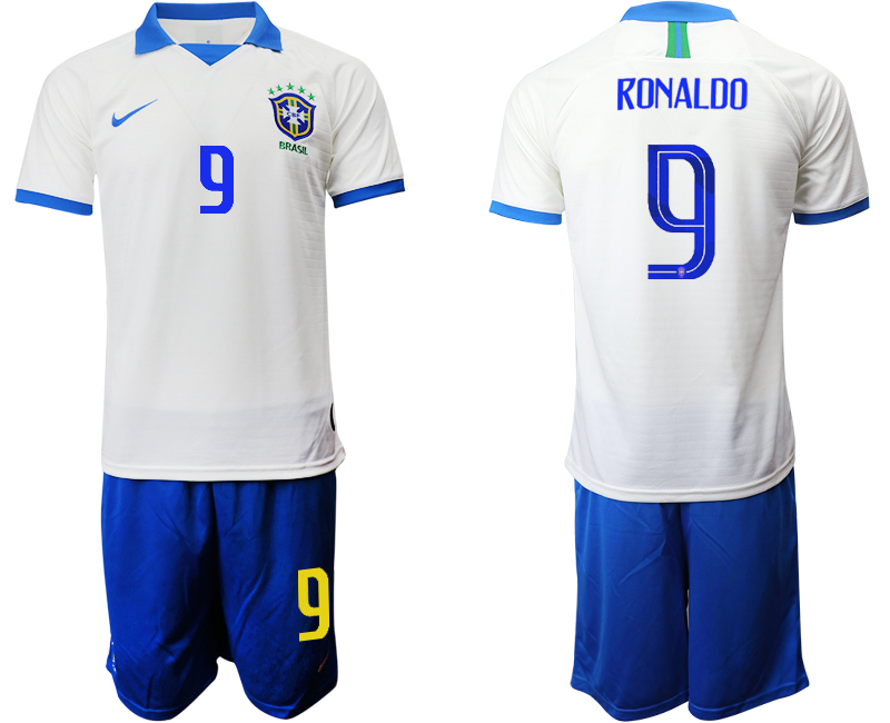 2019-20 Brazil 9 RONALDO White Special Edition Soccer Jersey