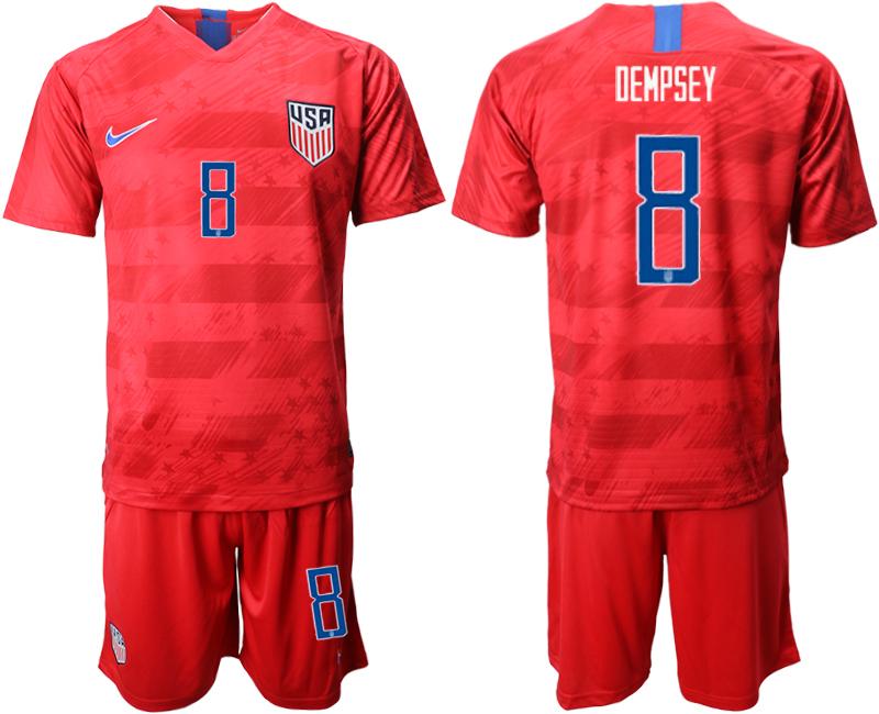 2019-20 USA 8 DEMPSEY Away Soccer Jersey