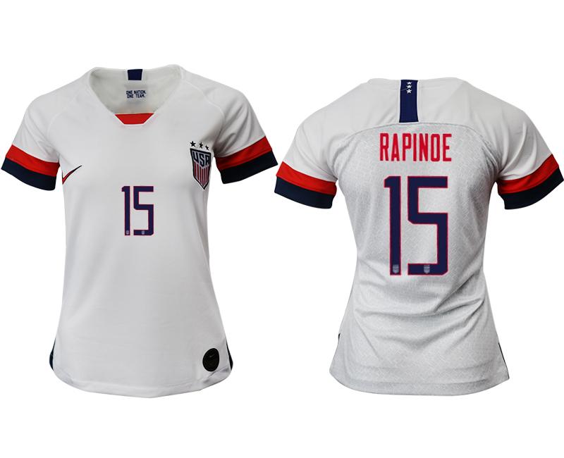 2019-20 USA 15 RAPINOE Home Women Soccer Jersey
