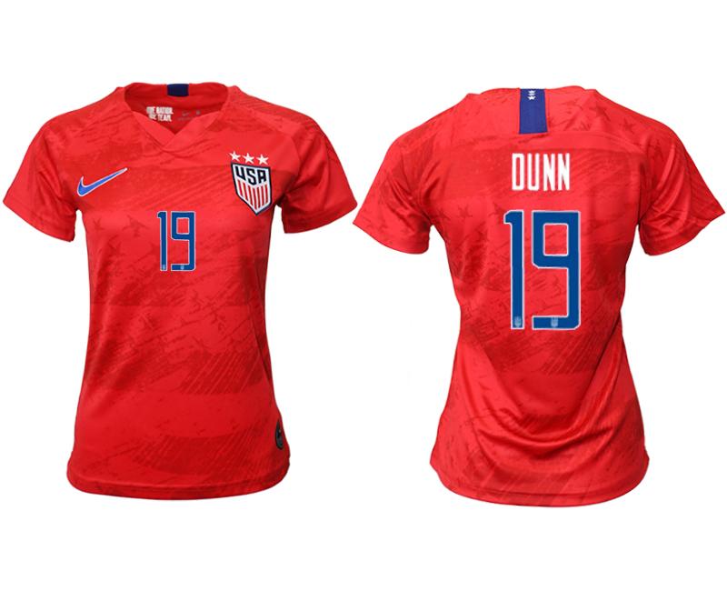 2019-20 USA 19 DUNN Away Women Soccer Jersey